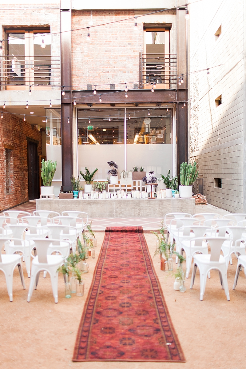 Mid Century Modern Wedding Inspiration // Howl // Long Beach, Ca ...